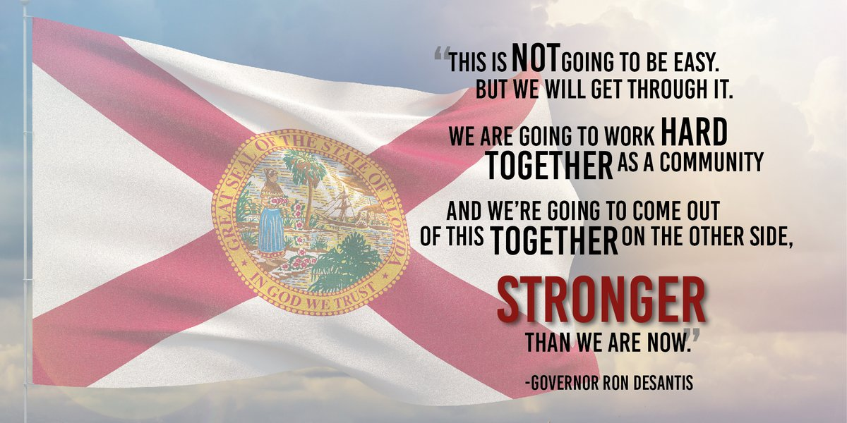 Floridians are resilient. This is not going to be easy, but we will get through it together.