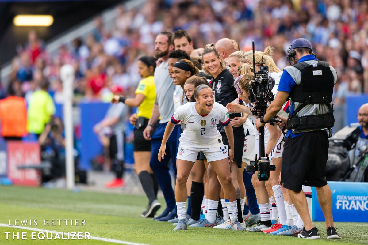 @LewisNC 90' WHEN YOU REALIZE IT'S REALLY HAPPENING   📷: @LewisNC  #FIFAWWC #USANED #WatchWoSoFriday https://t.co/qXgw8YIXGT