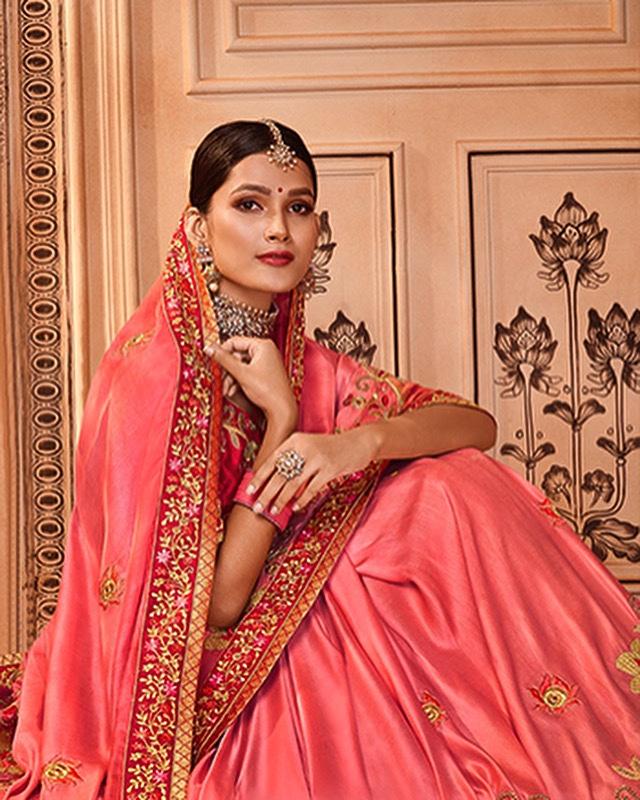 Laxmipati Satin Silk Coral Pink Saree #ssrsilkscollection #sarees #saree #sareeblousedesigns #sareelove #sareelovers #sareedraping #partywear #partywearsaree #online #fancysaree #lakshmipatisarees #onlineshop #sareesofinstagram #sareeindia #sareefashion #fashion #sareefashionpic.twitter.com/8vZK7Z6BbK