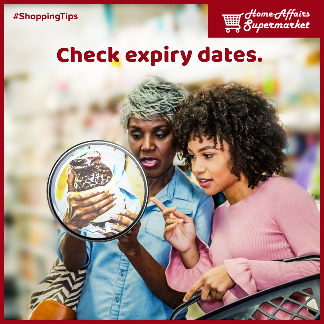 Always spare time to ensure you are not buying expired products during the hustle and bustle of shopping to avoid health complications and waste of money . .  #homeaffairssupermarket #shoppingtips #groceryshopping #consumergoods #healthylifestyle #freshproducts  #bestpricesintown pic.twitter.com/INcHSZG2xo