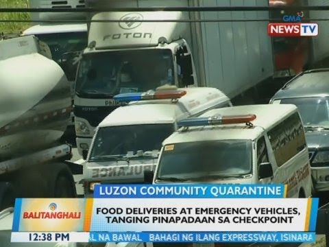 VIDEO: Food deliveries at emergency vehicles, tanging pinapadaan sa checkpoint https://t.co/QjtdqMRaUT https://t.co/il5vvhhQgw