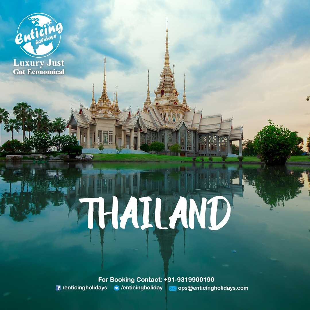 Explore the beautiful 𝐭𝐞𝐦𝐩𝐥𝐞𝐬 𝐨𝐟 𝐓𝐡𝐚𝐢𝐥𝐚𝐧𝐝 within your budget. Call Enticing Holidays for affordable Thailand Tour Packages.  𝐓𝐨 𝐊𝐧𝐨𝐰 𝐕𝐢𝐬𝐢𝐭 : https://bit.ly/3bM7vEL   call us - 𝟗𝟏-𝟗𝟑𝟏𝟗𝟗𝟎𝟎𝟏𝟗𝟎 #Thailandbeach #Thailandholidays #Thailandpic.twitter.com/g5bd62XEAt