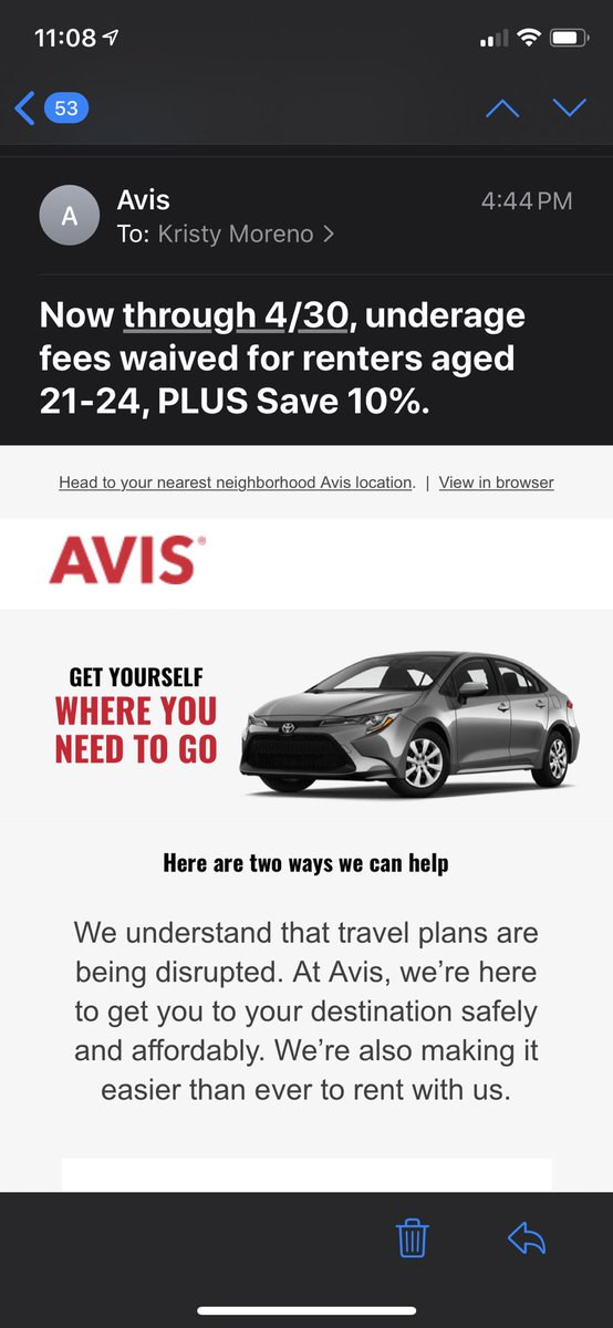 .@Avis knows the age group that isn't taking #Covid_19 seriously. #StayTheFHome