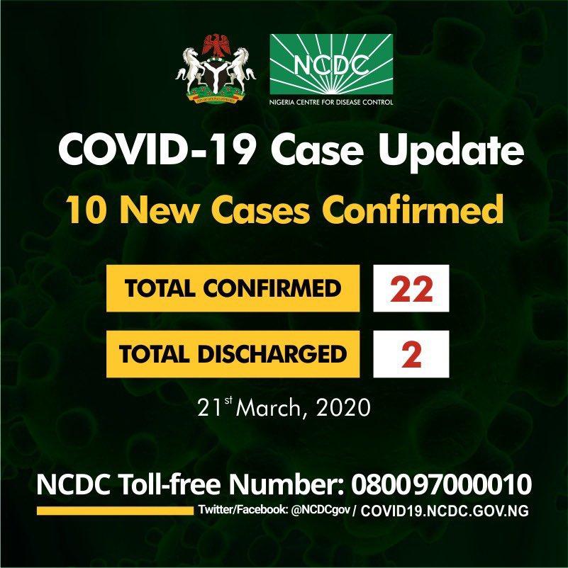 Coronavirus: Heated reactions as Nigeria confirms 10 new Covid-19 cases