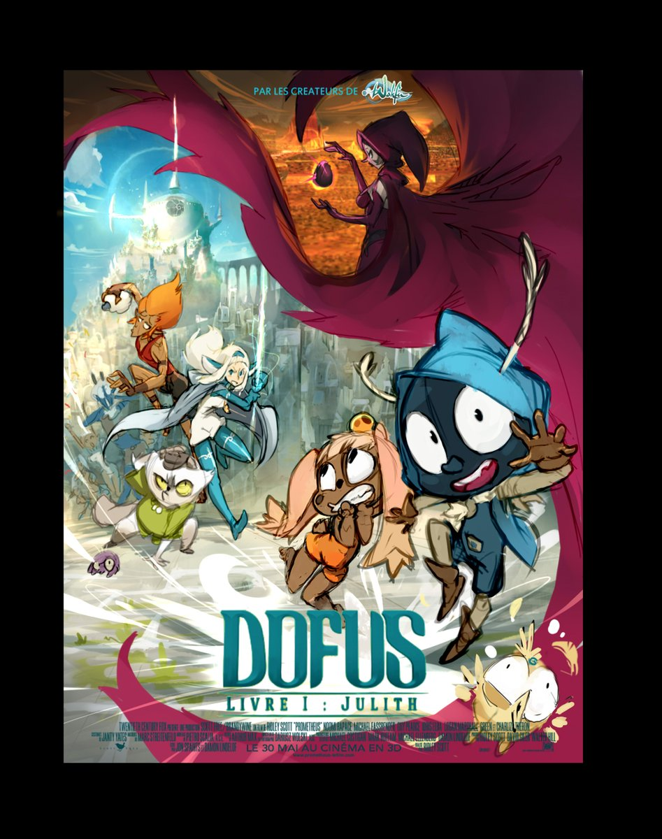 Old concept for The dofus Movie Movie poster
