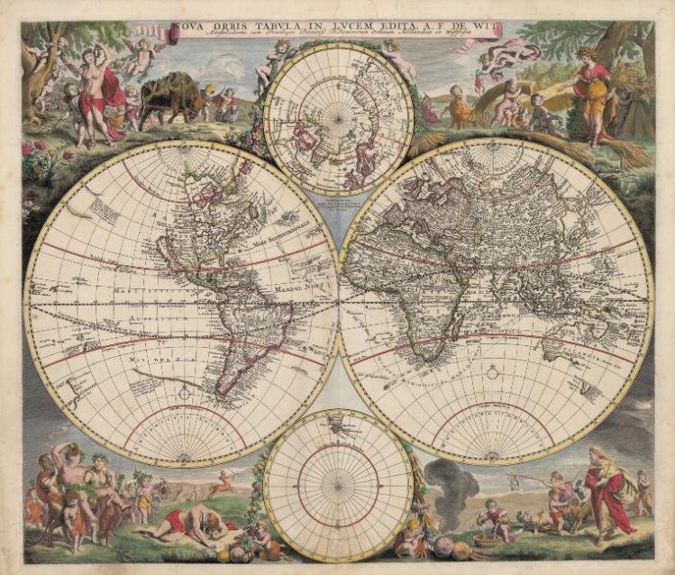 «Nova Orbis Tabula», de Frederik de Wit