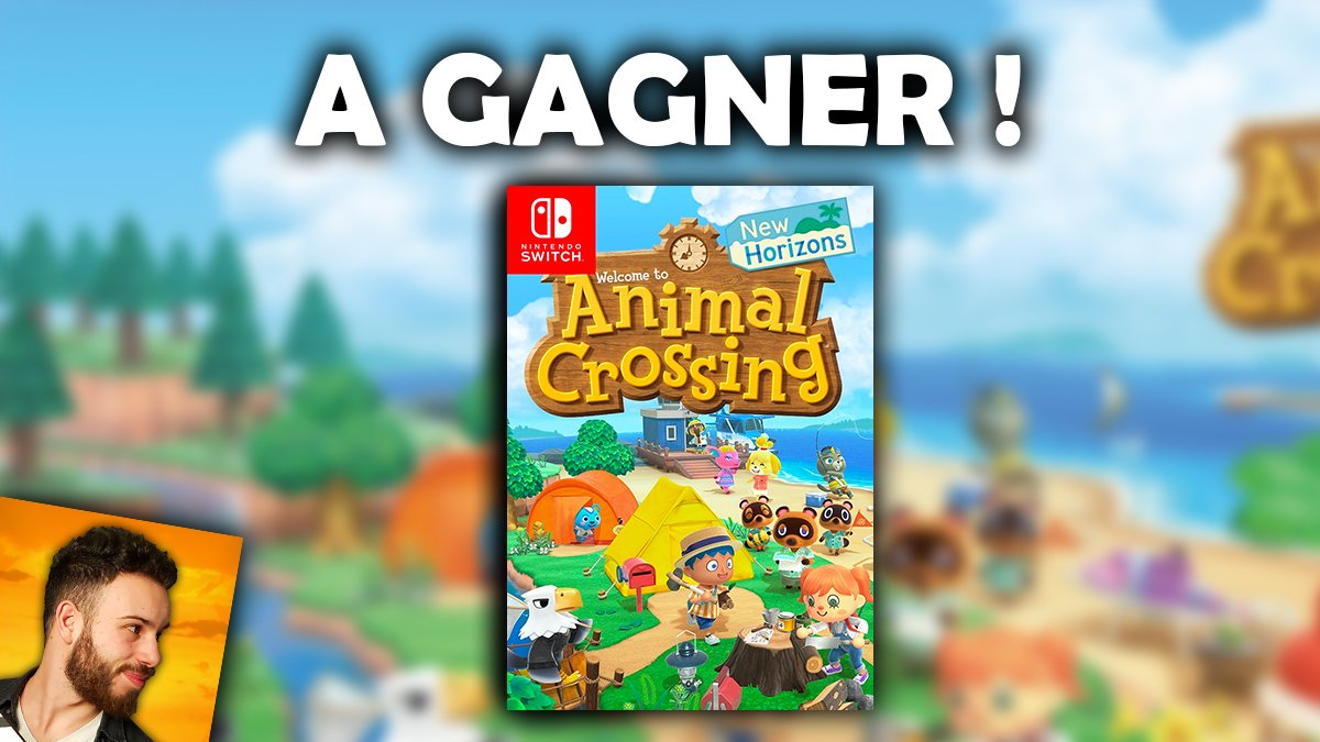 🎁 #Concours toutes les semaines !  👉 Tentez de gagner le jeu #AnimalCrossingNewHorizons sur #NintendoSwitch !  🔸 Pour participer, c'est simple :  1) #LIKE & #RT ce tweet 2) Follow @Clapman_YT 3) Lâche un joli GIF #AnimalCrossing en commentaire 👌😁 https://t.co/bIF9GAdmbc