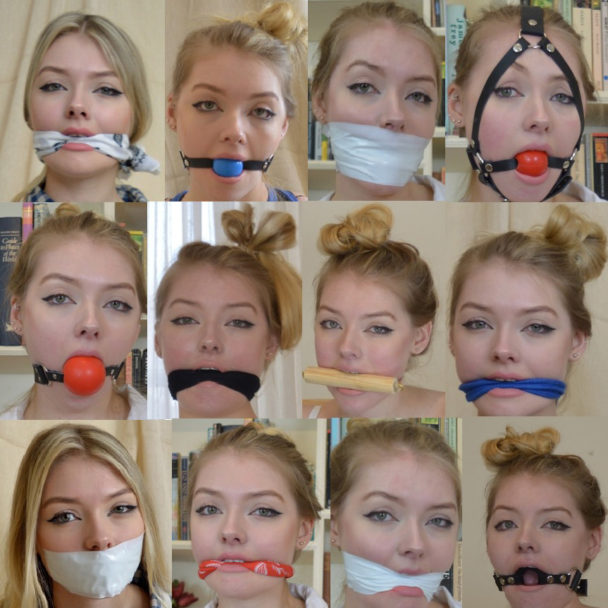 Thought I'd do what I can to spread a little joy so please enjoy a little collage of the beautiful Alice in all her gagged glory! :)