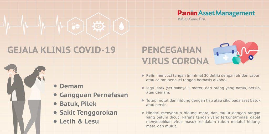 #SahabatPaninAM sering mendengar peribahasa 'sedia payung sebelum hujan' kan? Nah, kita kenali dulu gejala klinis serta pencegahan Virus Corona agar terhindar dari penyakit COVID-19.  Gejala 2019-nCoV yang paling umum adalah batuk dan demam yang disertai dengan gangguan  (1/4)