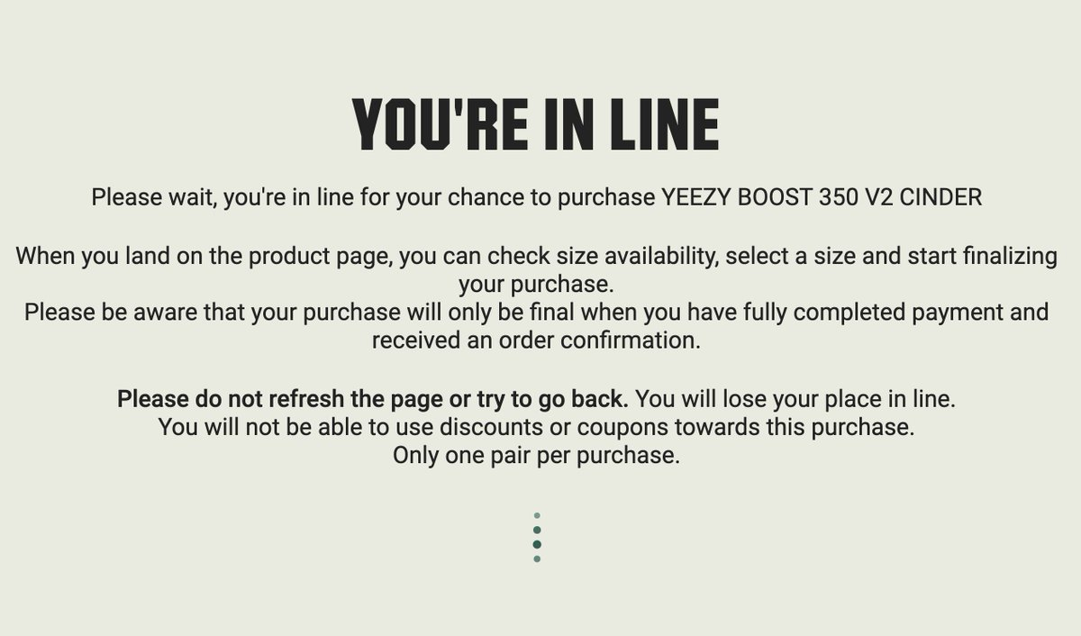 yeezy you are in line to purchase