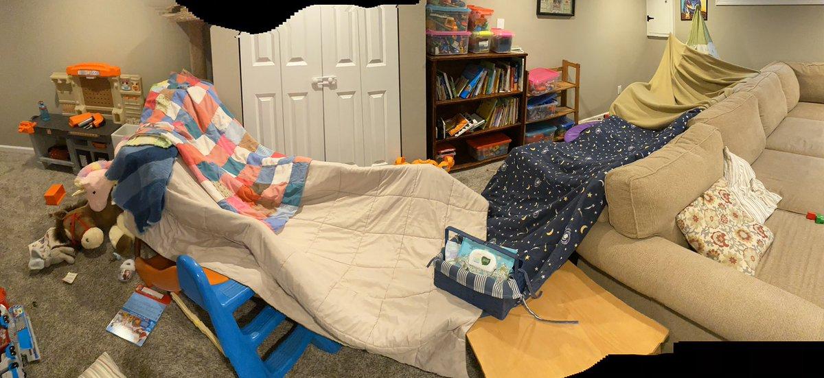 Day 4. Building epic forts! #toddlersstillrule