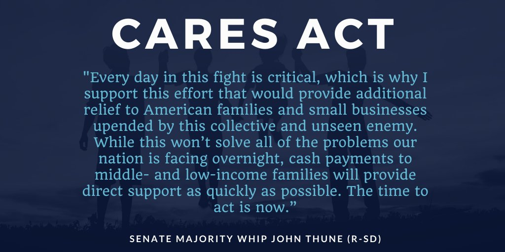 Senate Majority Whip @SenJohnThune on the CARES Act: bit.ly/2U56Zeo