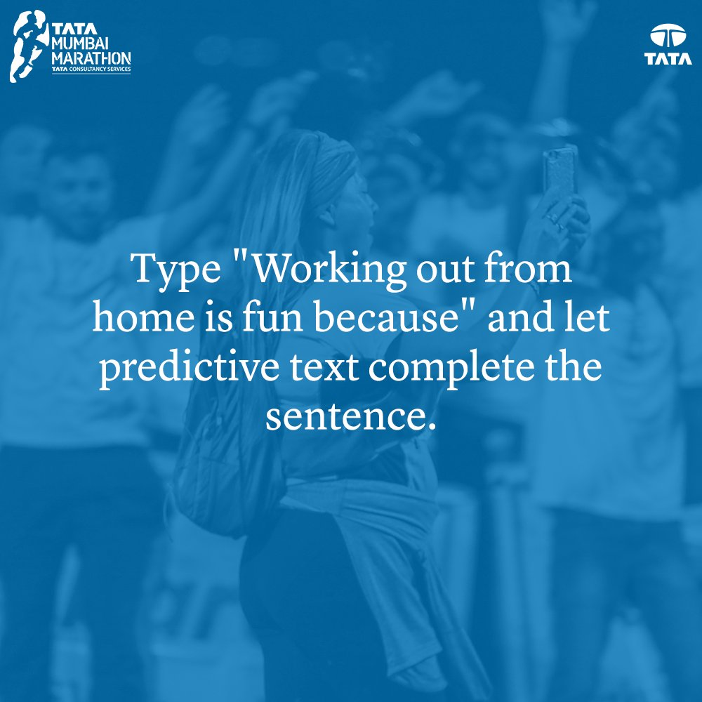 Working out from home: FUN 😍 To let your keypad do all the talking: TOO MUCH FUN 😍😍  Complete the sentence using your phone's predictive text and share your entries below. 👇   #TMM