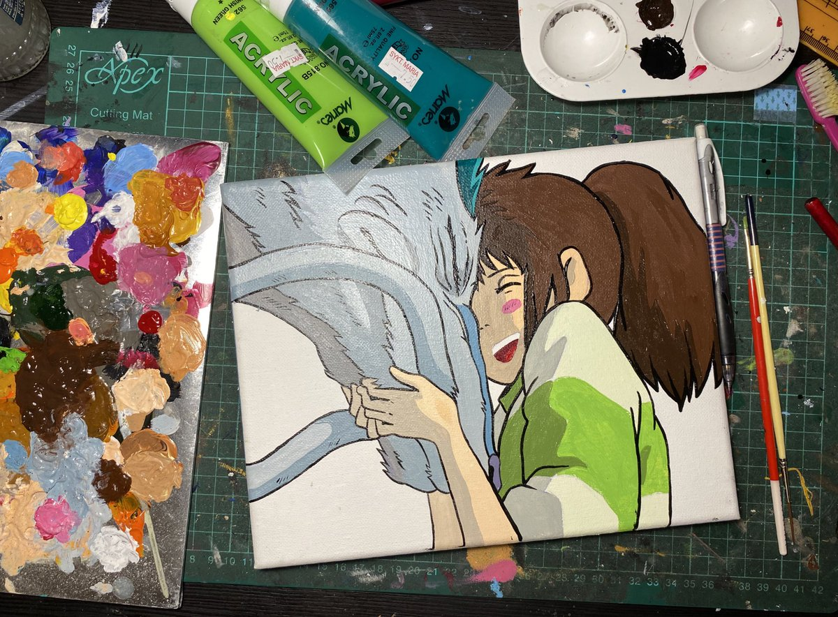 Nani On Twitter Day 4 Quarantine Art Challenge Chihiro And Haku Spirited Away