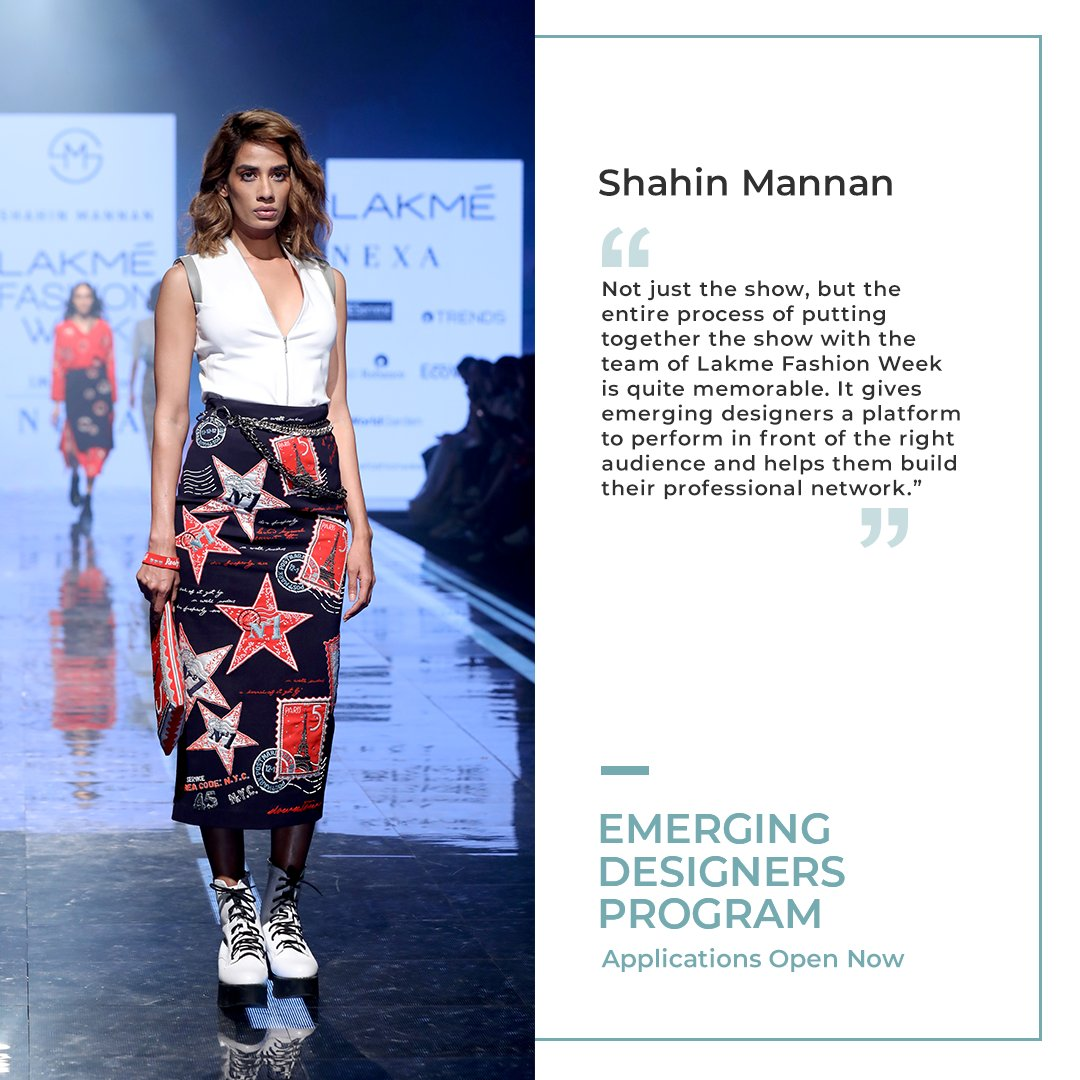 Lakme Fashion Week On Twitter Owing To Her Love For Bold Idiosyncratic Graphics Shahin Has Constantly Been Challenging The Conventional Through Her Label Apply For The Emerging Designer Program Here Https T Co Lczh6psjxa