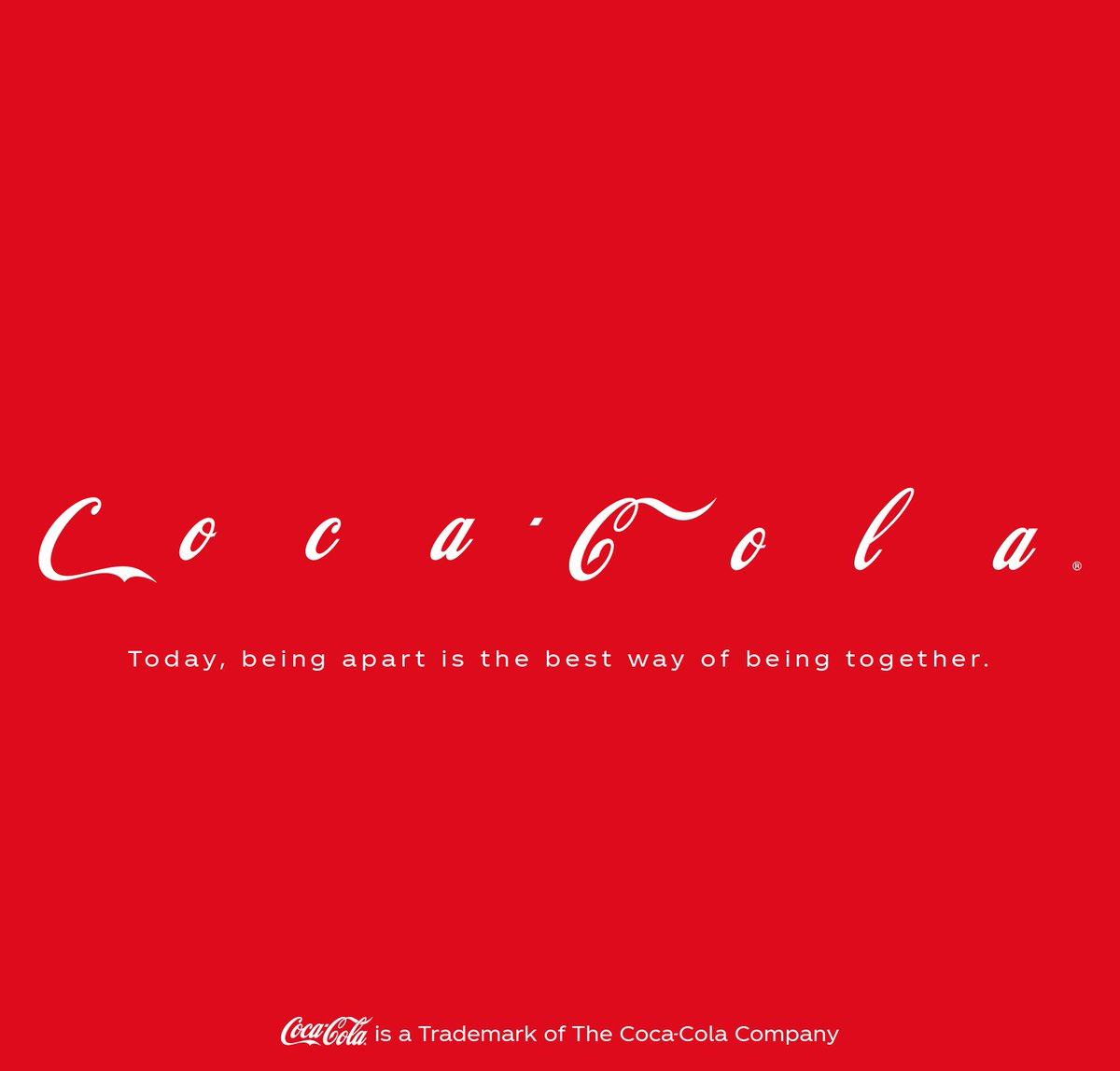 Image result for coca cola social distancing ad