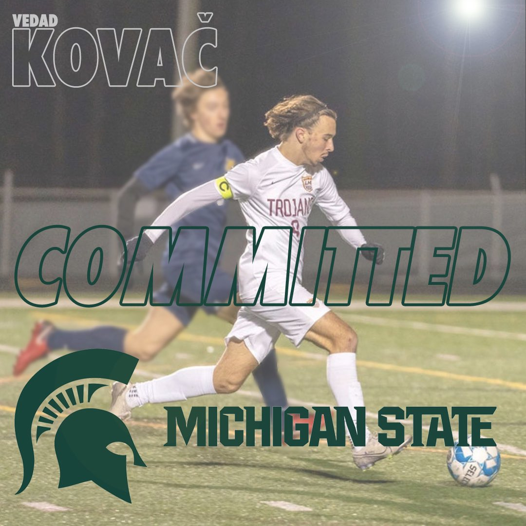 Congrats to Vedad Kovač on his decision to play at Michigan State! @LassiterSports @MSUmsoccer