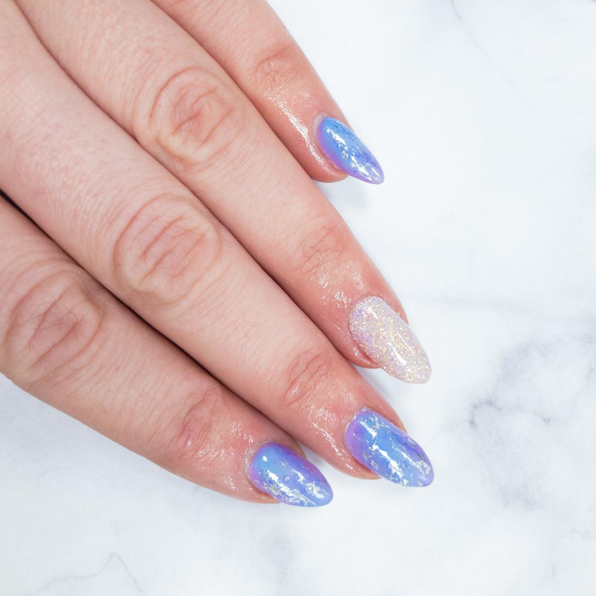 Fairytale Daydreams  Powder blue and lilac gel polish with marbling, silver foil and fairytale glitter  #gelpolish #gelnails #bluenails #lilacnails #silvernails #glitternails #marblenails #marblenailsart #nailsdoncaster #doncasternails #nailsalon #heynailspic.twitter.com/0tn32pjhhu