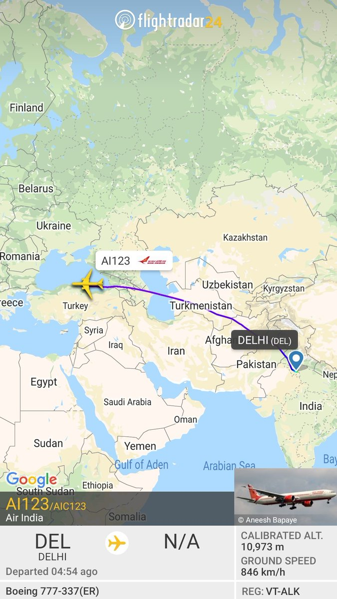 Air India B777 departed from Delhi on its way to Rome, #Italy to evacuate Indian citizens from Italy. #AirIndia #coronarvirus #Covid19India #coronarvirusindia https://t.co/4PVwlysoME