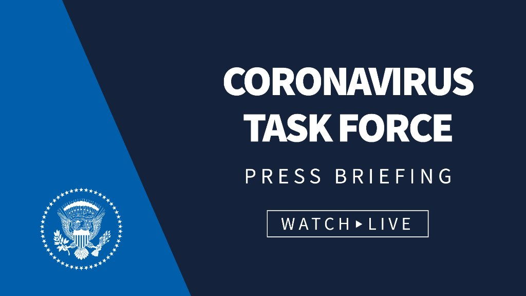 🚨Watch today's Coronavirus Task Force briefing LIVE at 12:30 p.m. ET: 45.wh.gov/RtVRmD