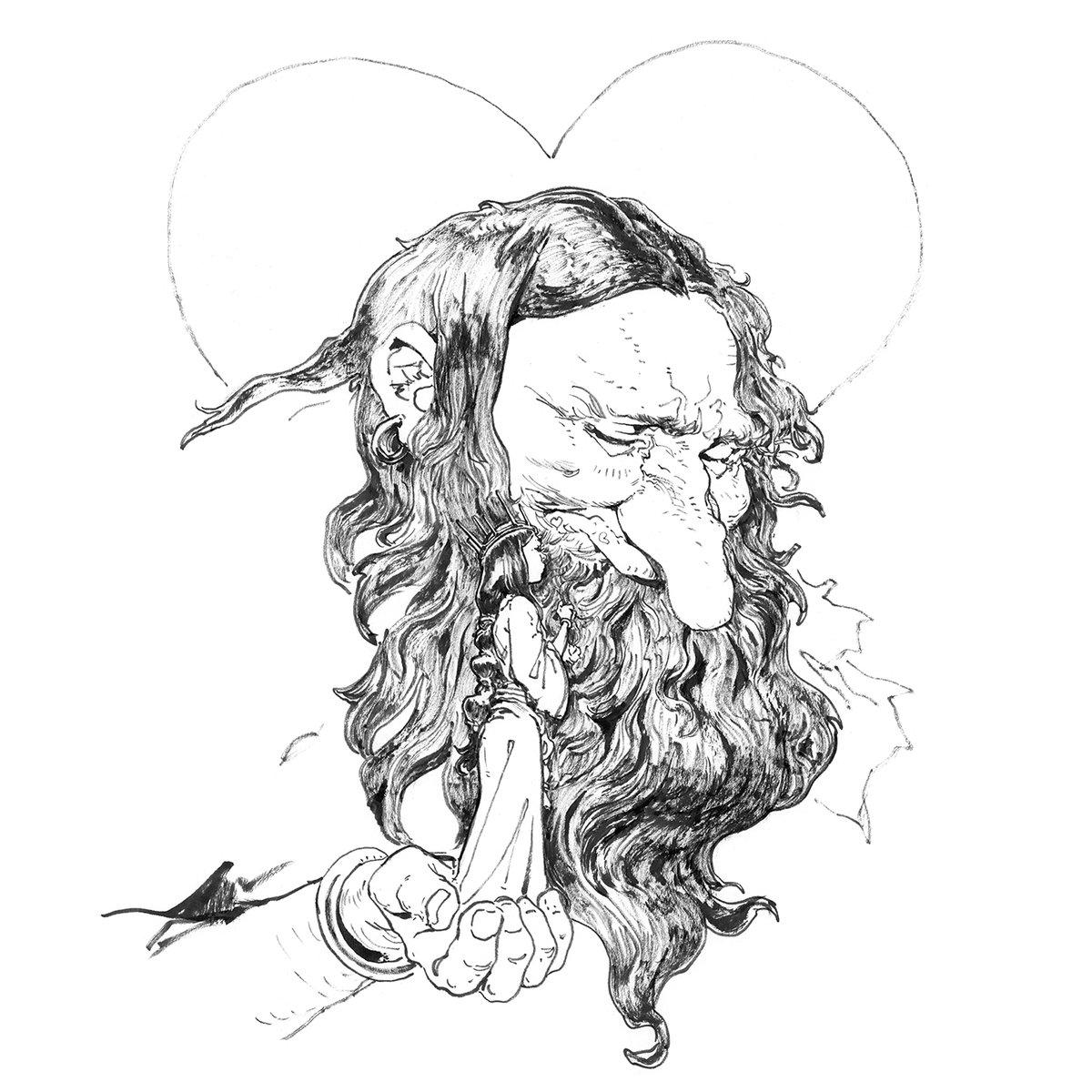 The Princess and the Troll  #troll #mythology #fantasyart #fantasyillustration #fantasyartist #fantasydrawing #ilovefantasyart #fantasyworld #worldbuilding #visdev #darkfantasyart #mysticart #artfantasy #artistsupport #artoninsta #artforthesoul #dailycollector #artcollectingpic.twitter.com/v14dfqOVGB