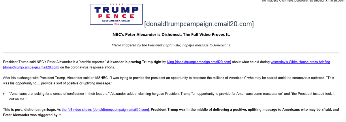Just as Trump takes to the podium, his campaign puts out an email attacking @PeterAlexander