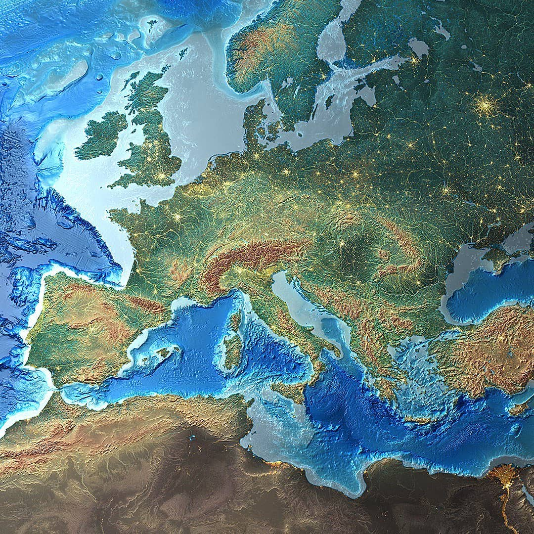 Picture of: Mapscaping On Twitter Europe A Peninsula Of Peninsulas