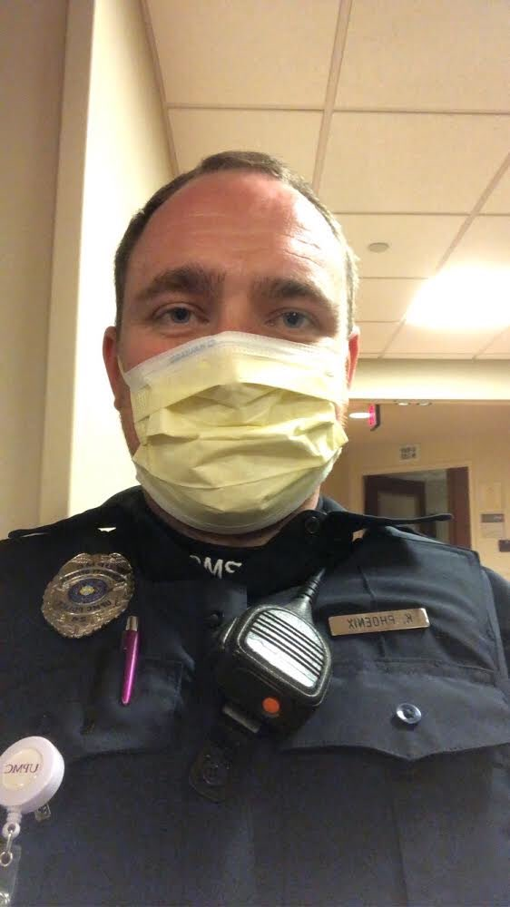 Shout out to former Beadling coach Kieran Phoenix, UPMC Police and Security services (UPMC Shadyside)! #firstresponders #beadlingfamily  #onthefrontlines