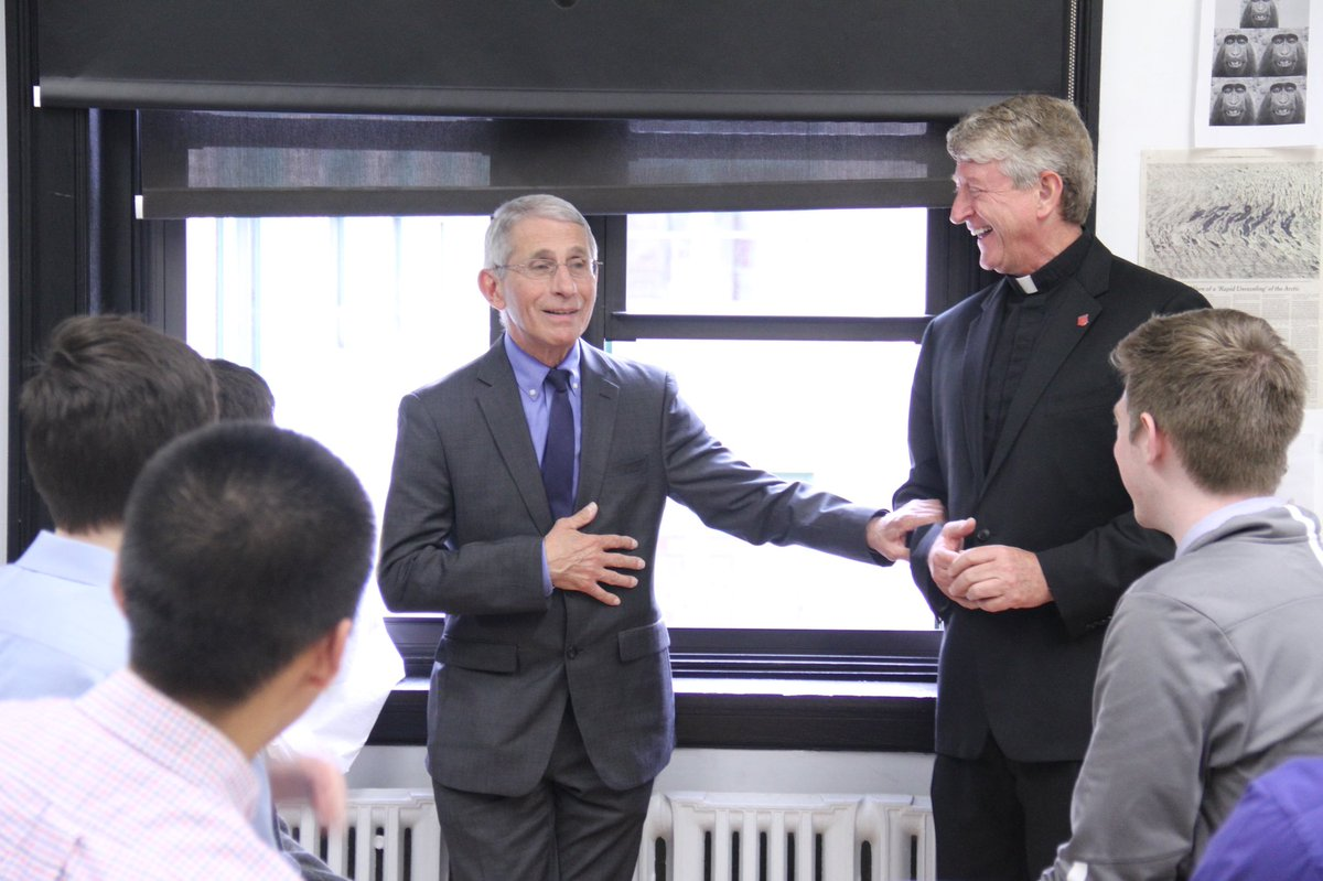 In Appreciation of Dr. Anthony Fauci '58: bit.ly/3bhrnP0 #AMDG