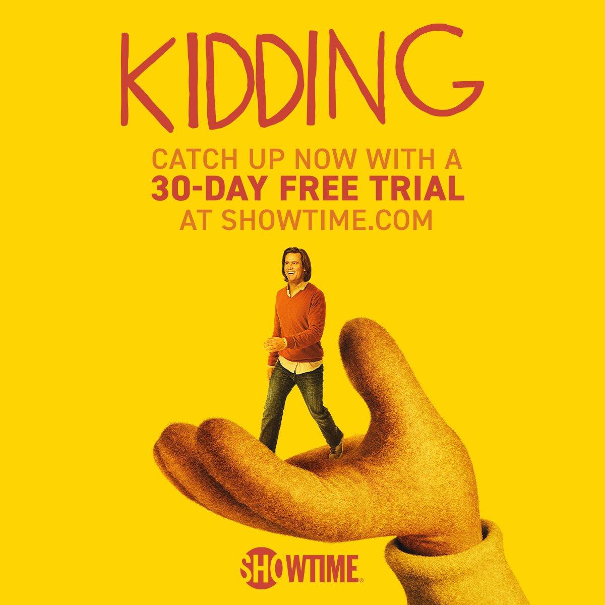 Free Showtime for your quarantine binging! Watch #Kidding Stay safe! @SHOKidding