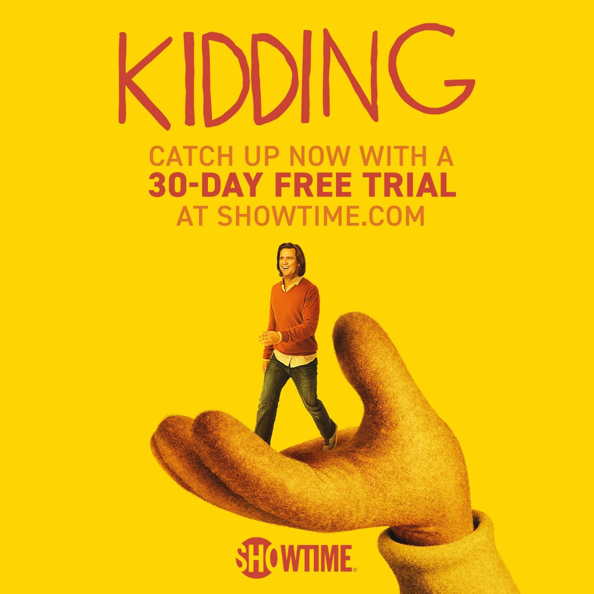 Free Showtime for your quarantine binging! Watch #Kidding Stay safe! @SHOKidding