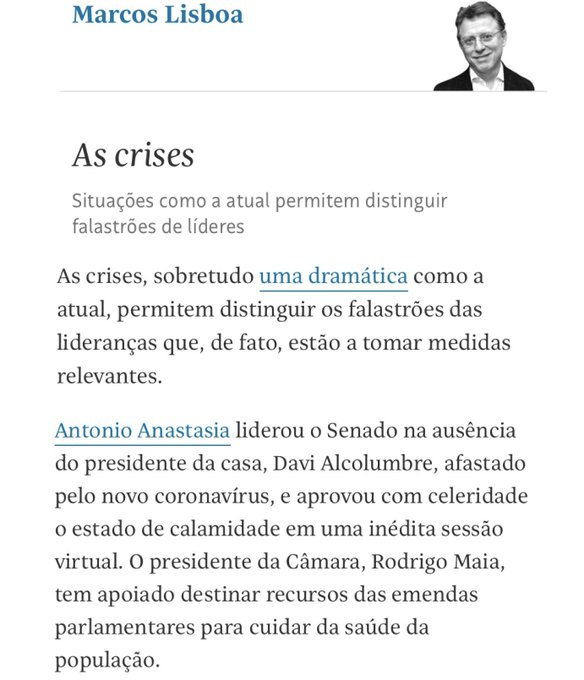 Agradeço à gentil referência do presidente do Insper, Marcos Lisboa. Seguimos firmes cumprindo nosso