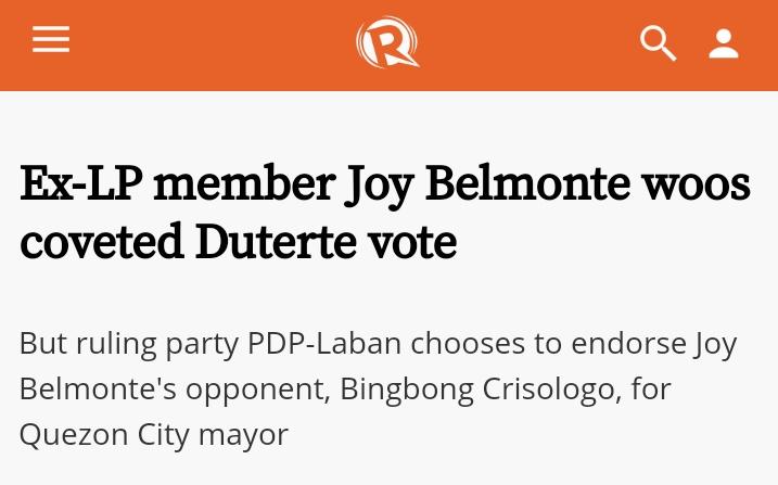 Quezon city has DDS zombies to thank pala for giving them Joy Belmonte.  #deserve https://t.co/qfZWymUaMX