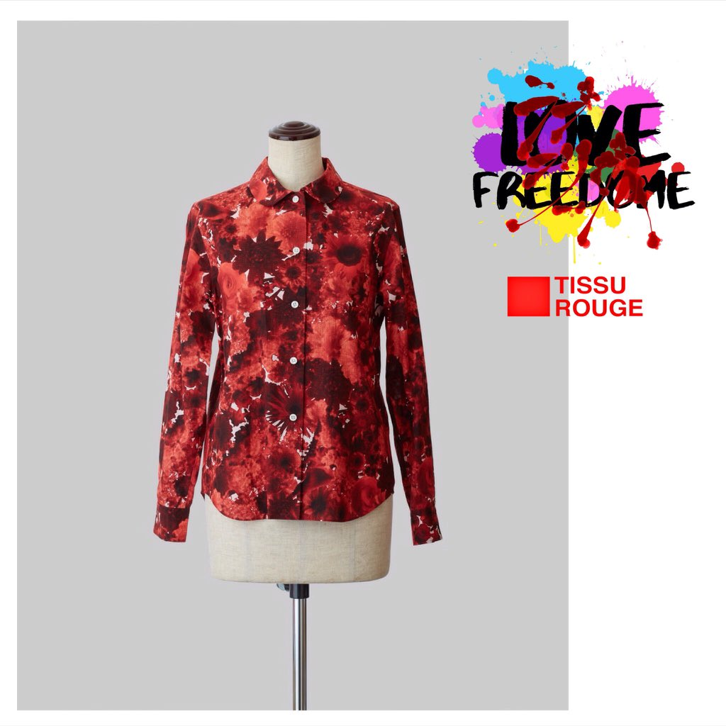 TISSU ROUGE 2020 S/S Collection . Bloom Print Shirt Red https://www.tissurouge.com/product-page/bloom-print-shirt-black… . #tissurouge #tissu_rouge #fashion #avantgarde #fashionable #ootd #cutingedge #mode #styling #coordinate #outfit #かわいい #2020ss #freedom #streetfashion #kawaii #Japanbrand #shirtpic.twitter.com/l2trekViBj