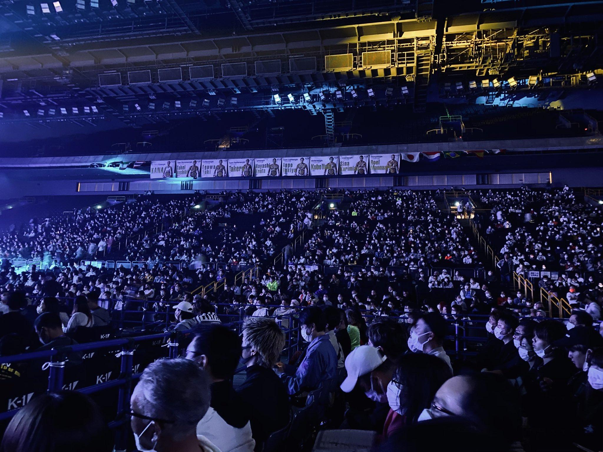 スーパーアリーナのK-1開催で満席になっている画像