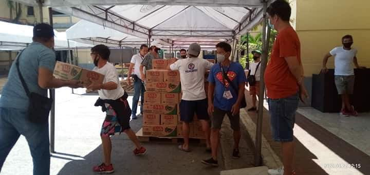 Thank you po ABS-CBN Lingkod Kapamilya for your donation to the City of Manila. :)   32 boxes century products, 110 boxes 555 sardines  Thank you po! Thank you Lord! https://t.co/HXhQs1EBDL