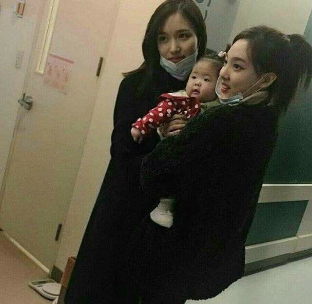 nayeon with babies