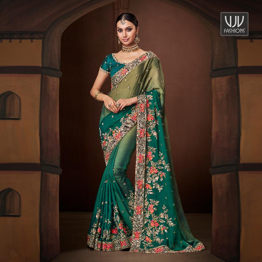 Buy Now @ http://bit.ly/2RJ3B6o  . Beautiful Green Color Shaded Georgette Designer Saree . Fabric - Georgette, Satin . Product No  VJV-KATH4173 . #saree #sarees #designersaree #weddingsaree #bridalsaree #silksaree #banarasisarees #netsaree #ethnicsaree #partywearsaree pic.twitter.com/vAtpxcOj0Y