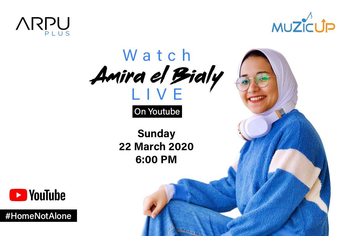 Amira El Bialy will go LIVE on YouTube today! Join here: https://t.co/nlTBJ5mxGK  النهارده أميرة البيلي لايڤ على يوتيوب الساعة ٦:٠٠ – اتفرج من خلال اللينك ده: https://t.co/nlTBJ5mxGK https://t.co/0hEuoktJye