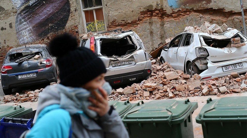 Землетрус у Загребі - фото з Twitter