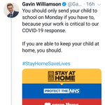 Image for the Tweet beginning: Latest from Gavin Williamson.