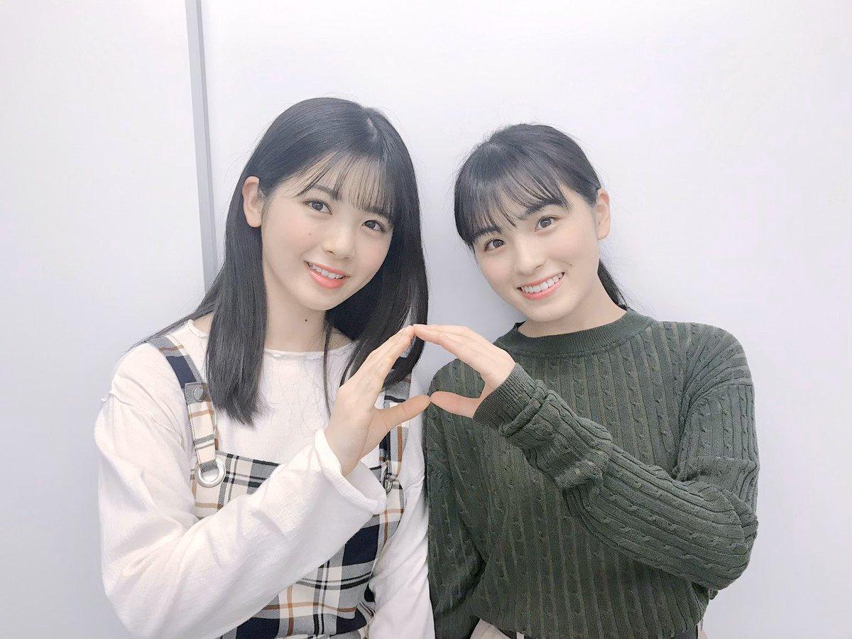 2020年3月22日らじらー筒井あやめ大園桃子桃ポーズツーショット