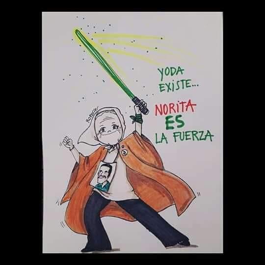 #FelizcumpleNorita te amo, te admiro... #Yoda existe y es #Norita #90años LA MÁS #PIBA DE TODAS En tiempos de #coronavirus el abrazo amoroso es virtual pic.twitter.com/gSpBFFutmq