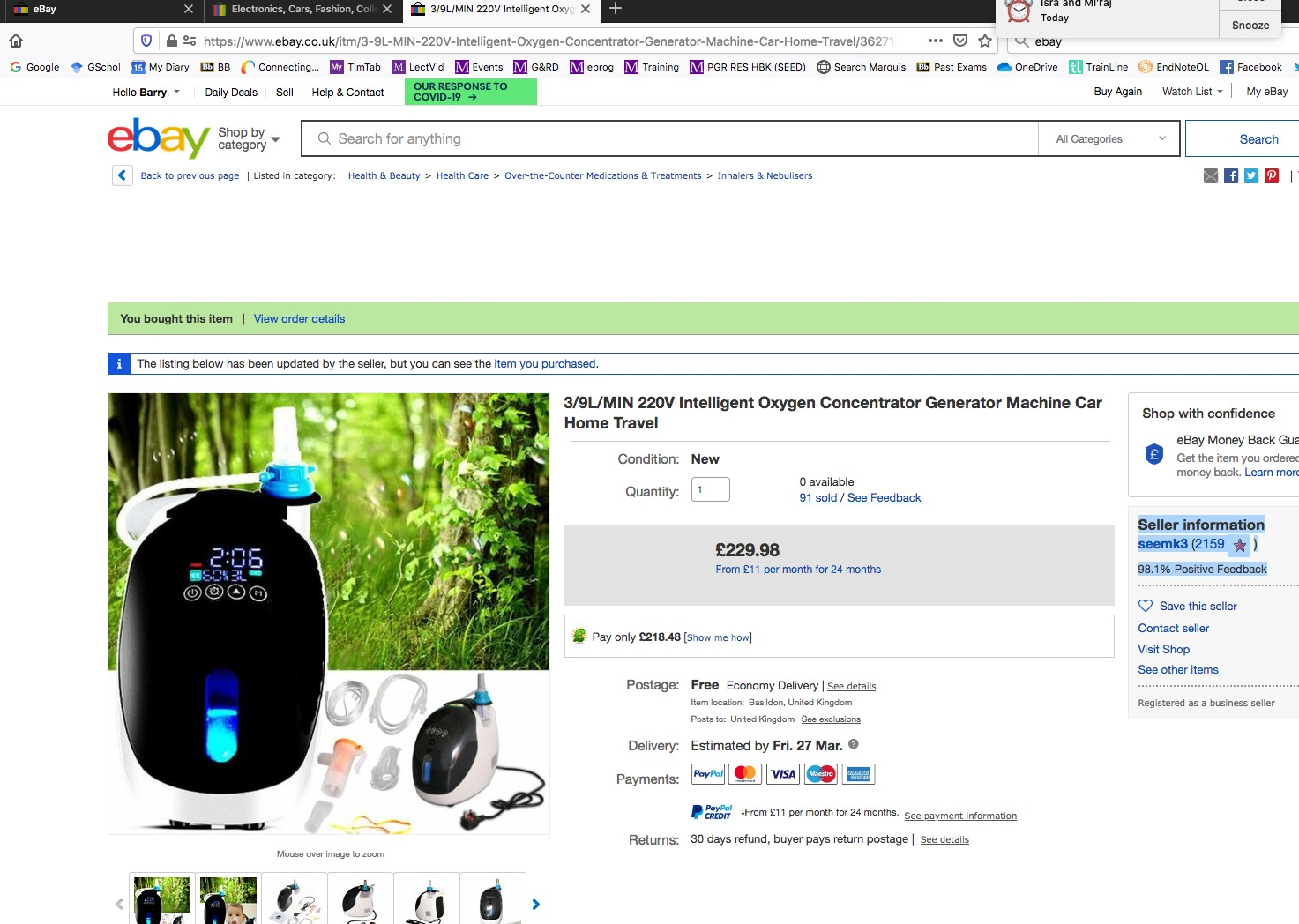 Vertebrate On Twitter Hi Ebay Ebay Uk Askebay This Vendor Is Still Offering The Goods For Delivery This Month But At Nearly 40 Higher Price Is That Really Why They Are Pressing Me