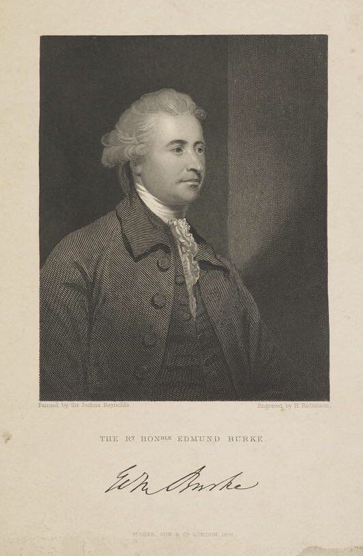 The Right Honourable Edmund Burke, Speech in Parliament on Conciliation with the American Colonies, March 22, 1775.