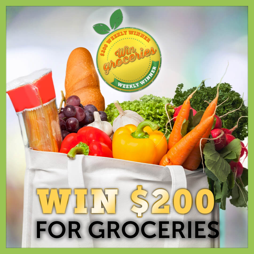 GET GROCERIES ON US THIS WEEK: Lucktastic wants to help you with your grocery shopping🛒. We are giving one winner $200 to use towards food for your family. 🍎🥕 Play Lucktastic now to enter. 🍀