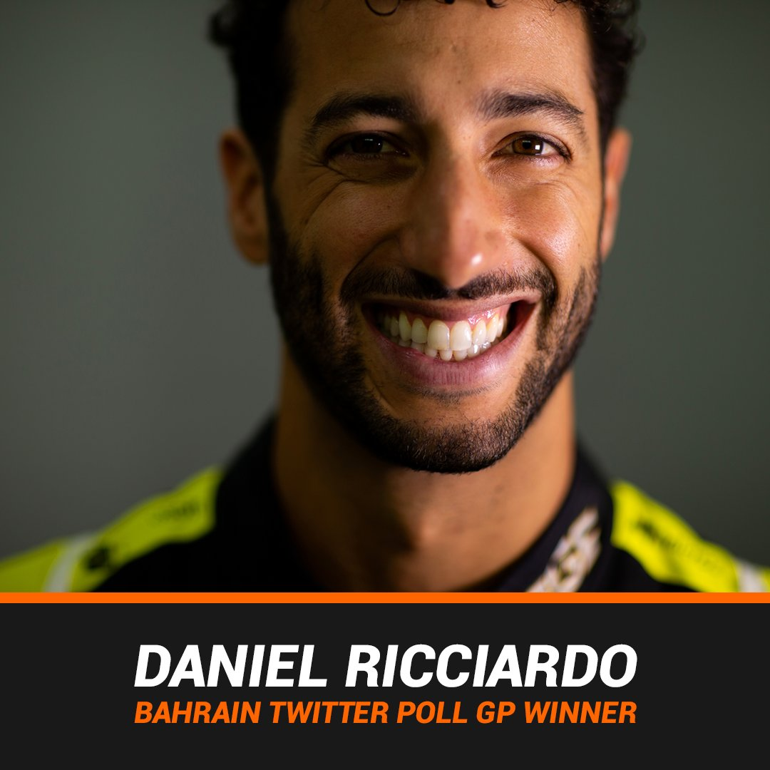 WHAT A MOVE! 😮 Ricciardo sends it down the inside of Norris on the final lap and pulls clear.  Daniel Ricciardo wins this weekend's #TwitterPollGP from Lando Norris and Kimi Raikkonen! 🏆🏁 https://t.co/bPLtZj8ohp