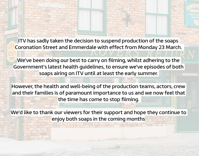 *Status Update: Please see below for the latest to the soaps.