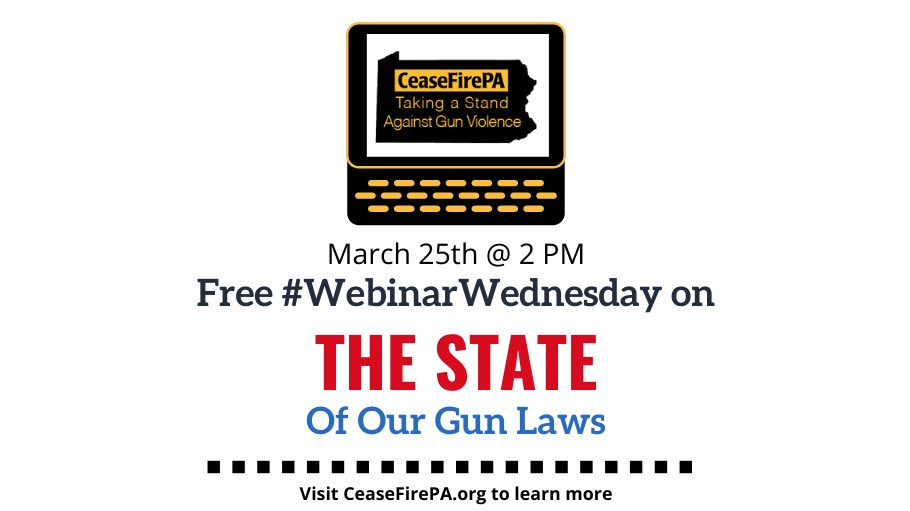 Got any plans this week? Join us for #WebinarWednesday at 2pm as we discuss the ins and outs of our gun laws!