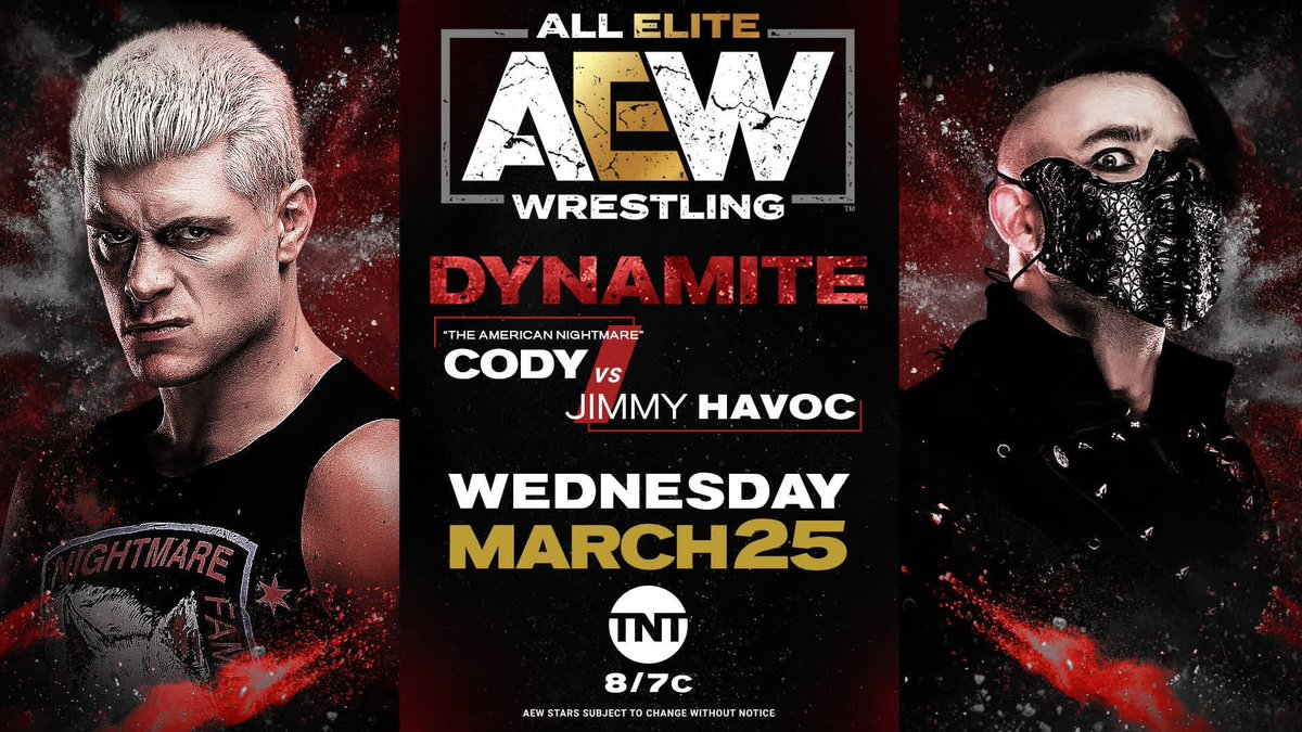 Cody Facing Jimmy Havoc On This Wednesday's AEW Dynamite